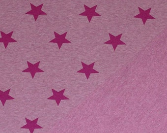Jogging/Sweatshirt Fabric With Stars Melee Cardinal or Navy