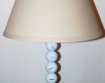 Golf Ball Lamps Unique One-of-a-Kind Handcrafted