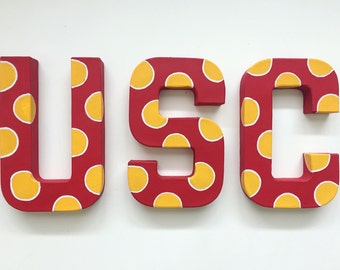 USC (California or S. Carolina) handpainted letters