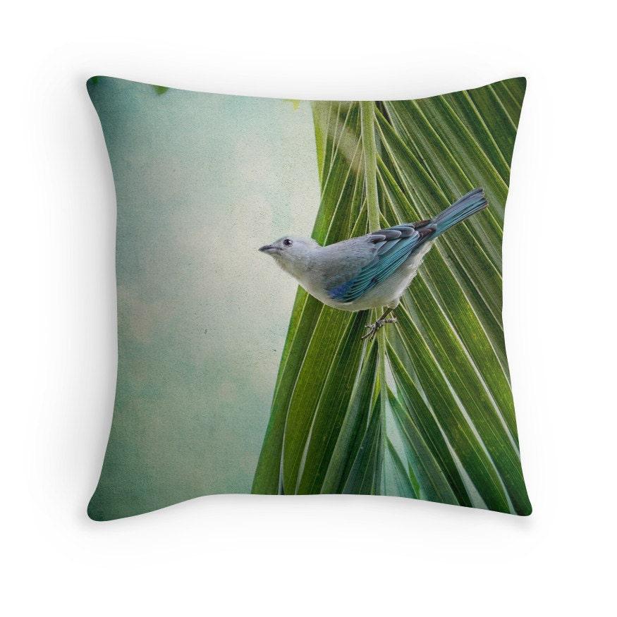 Bird Decor Nature Decor Blue Bird Bird Cushion Costa Rica