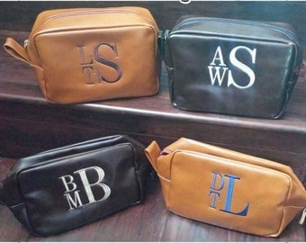 Personalized Men's Shaving kit, Men's toiletry bag, Groomsman Gift, Men's dopp kit, Monogrammed shaving kit, Travel bag