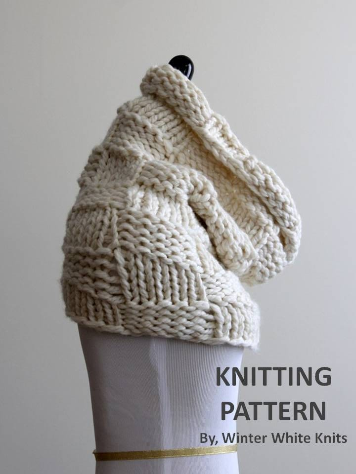 Knitting Pattern cowl PDF Instant Download by WinterWhiteKnits