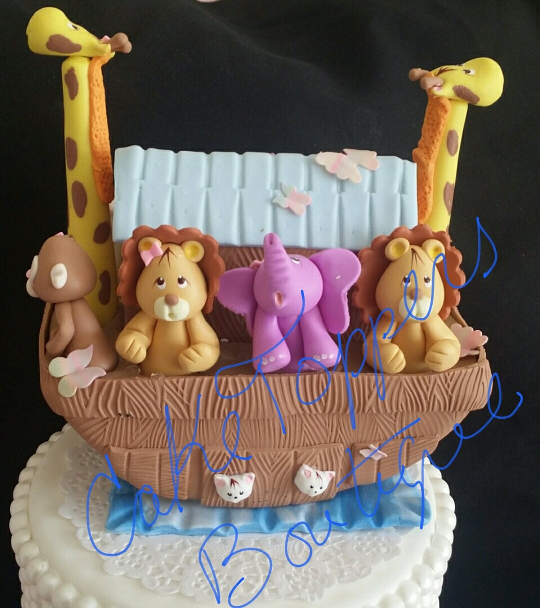 Noah 39 s ark cake decoration noah 39 s ark baby shower for Noah s ark decorations