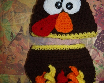 newborn turkey hat and diaper cover, baby turkey hat and diaper cover boy turkey hat, girl turkey hat diaper, Thanksgiving newborn outfit,