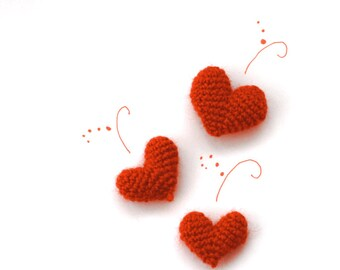 HEART Add-on, hand crocheted Stuffed Heart as an additional item to an Animal Doll, Valentine's Day Special, make it Personal