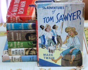 "A striking 1960s Collins Classic Series of ""The Adventures of Tom sawyer"" by Mark Twain"
