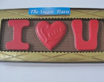 I LOVE YOU Chocolate Bar*Valentine Gift*Wedding Gift*Anniversary Gift*Edible Gift*Birthday*Bride*Groom*Fiance*Mom*Dad*Boyfriend*Girlfriend