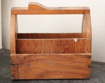 Antique Wooden Shoe Shine Tool Box