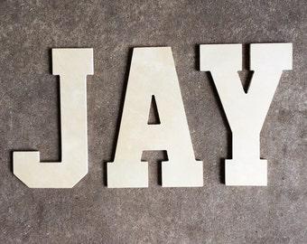 Block Letters, Custom Wall Lettering, Set of 3 letters, Block Font, Nursery Decor, Wedding Gifts, Wall Decor