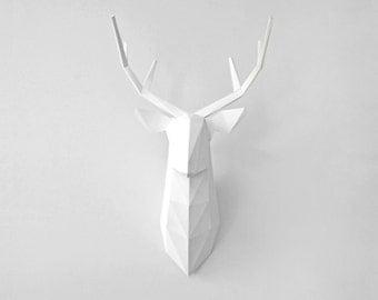 DIY Deer Head Paper Sculpture Kit