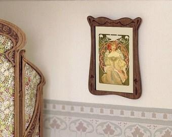 Art Nouveau frame, scale 1:12. Handmade.