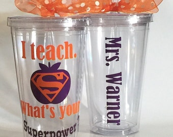 Personalized Teacher gift, Personalized Tumbler, Christmas teacher Gift,  Teacher Tumbler, Back to School, Gift for Teacher