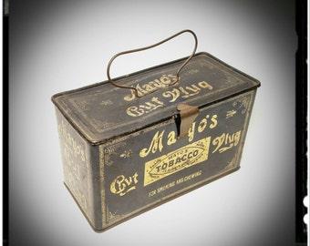 Antique Mayo's Tobacco Cut Plug Pail Tin / Tindeco Tin Container / Collectible Tin / Tobacciana/ Gift Tin/Display Tin/Best Gift Idea / F1356