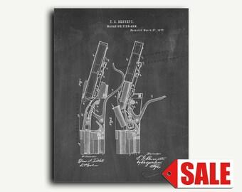 Patent Print - Rifle Patent Wall Art Poster