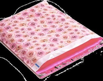 100 Decorative Polymailer waterproof, tear-proof shipping envelopes 14x17