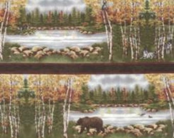 Endangered Sanctuary Panel by Holly Taylor for Moda Fabrics. Walnut 6650 18F