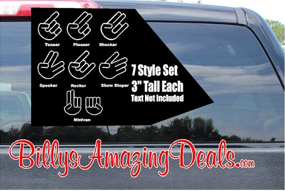 Funny 7 3 Shocker Set Vinyl Decal Sticker Free Fast