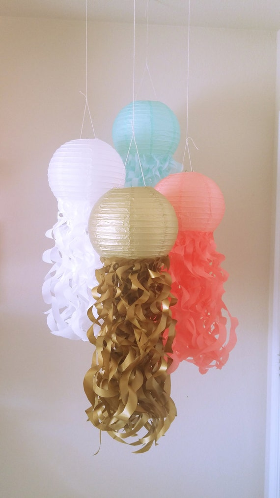 Mermaid Party Decorations Jellyfish Paper Lanterns Nursery