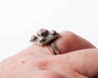 Sweet and small old Tuareg ring with knobs US size 6
