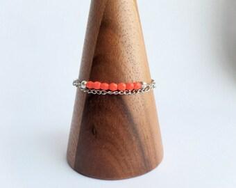 Coral Glass Bracelet