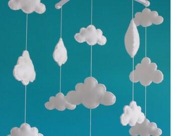 Sale! Gorgeous cloud mobile  musical cot mobile cloud nursery