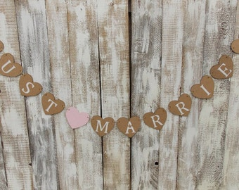 Heart Garland Just Married - banner/Garland/wedding Garland/wedding