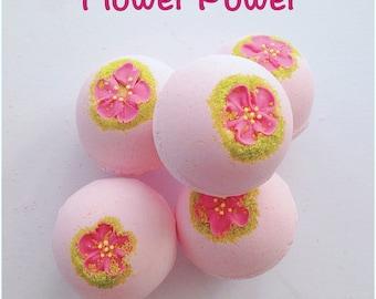 Rose, Jasmine, Frankincense & Patchouli bath bombs, moisturising bath care, handmade with love