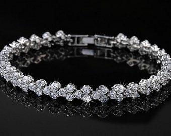 Swarovski bridal bracelet, wedding jewelry, bridesmaid bracelet, luxury bridal jewelry