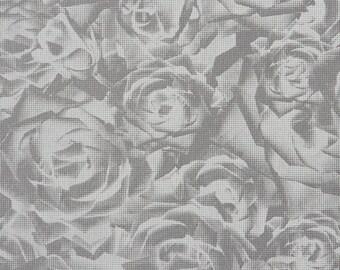 Tender 3-Dimensional Floral Grey Wallpaper R1774