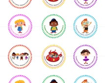 Little Einsteins  Birthday Party Tags Thank You Tags Thank You Cards Stickers DIY Printable File