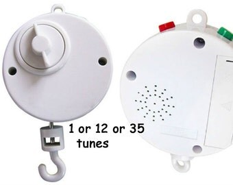 1 or 12 or 35 tune Music box, 1-tune Musical Box or 12-tune Musical Box Baby Crib mobile music box  Musical mobile