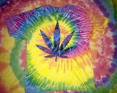 Tie dye weed leaf pot t shirt 420
