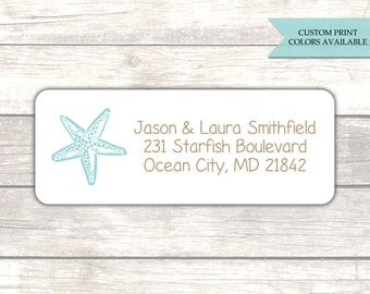 Return address labels (30) - Beach address labels - Wedding return address labels - Return address stickers - Adress labels (AW020)
