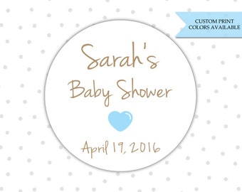Baby shower stickers - Baby shower labels - Personalized baby shower stickers - Baby shower favor labels  (RW070)