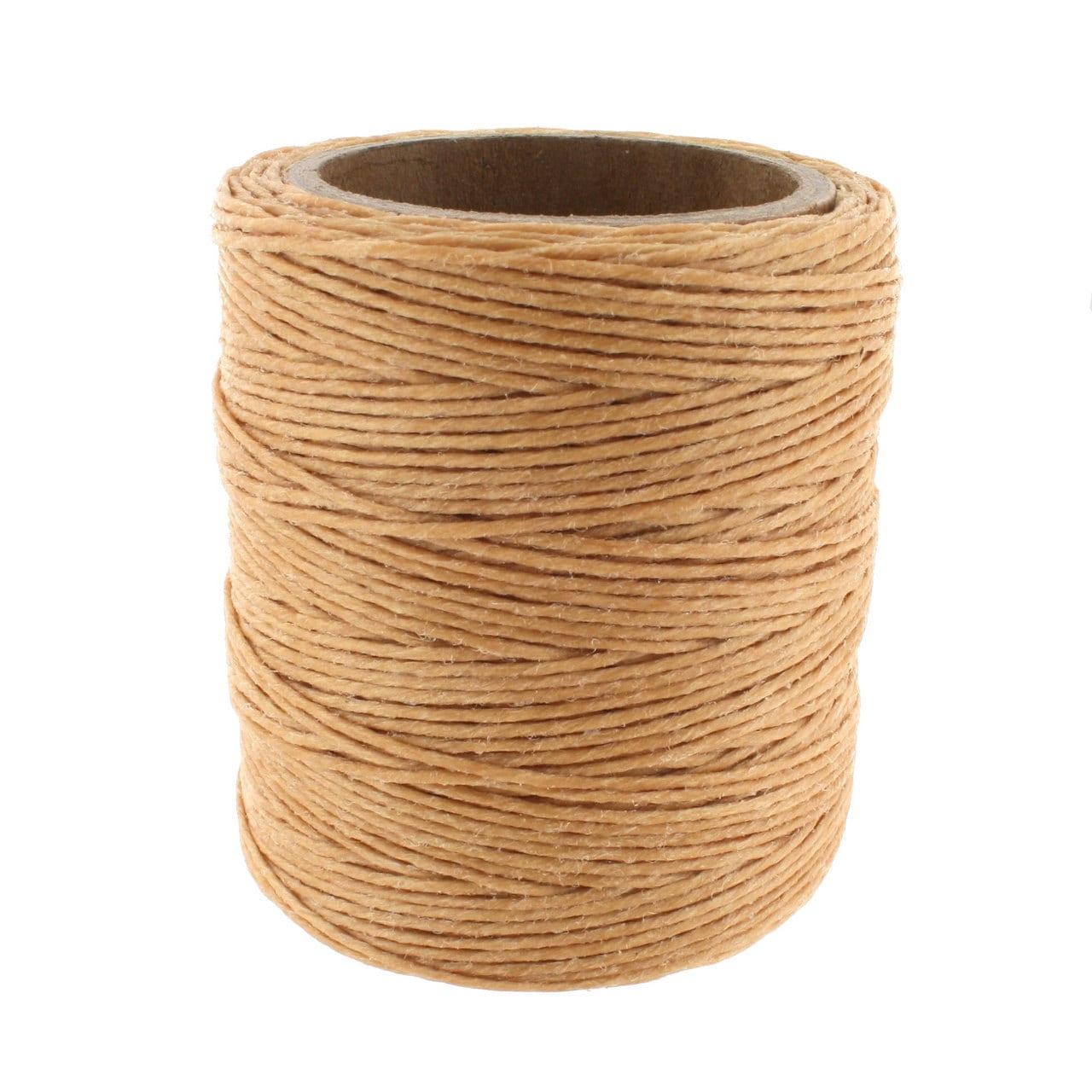 Maine Thread Waxed Cord 70 Yard Spool Ecru .040