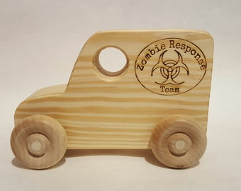 Zombie Response Team Vehicle Wooden Toy
