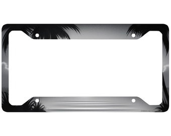 beach license plate frame beach car tag frame beach license plate holder ocean palm trees beach license plate frame 30 312