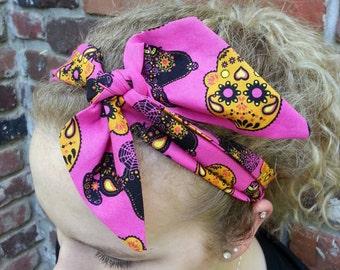 Sugar skull snoopy headband