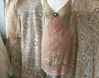 Vintage slip dress,party dress for women , rose slip dress ,sexy summer dress , boho style, lace dress ,