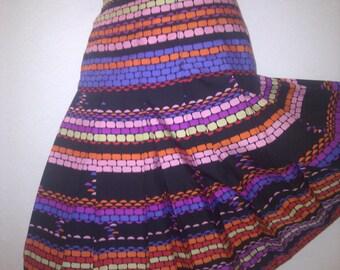 80s Alexander Germany Design colorful eyecatcher pleated skirt size EU 40