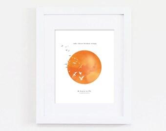f l y | 8x10 art print