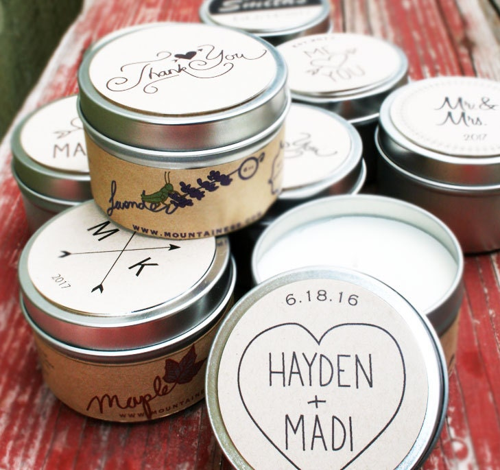 Wedding Gifts Wholesale: Soy Candle Favors / Wholesale Wedding Favors / Rustic Wedding