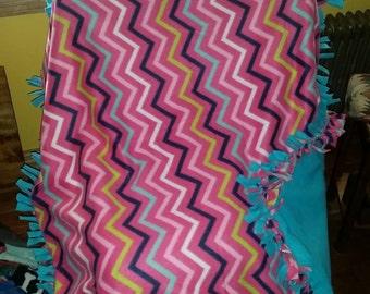 Bright colored chevron blanket
