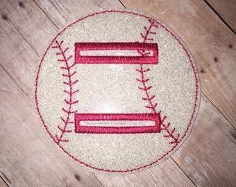 Set of 1 Baseball Softball Shirt Buckle Ties Vinyl Feltie Felt Embellishment! Felties Applique Party