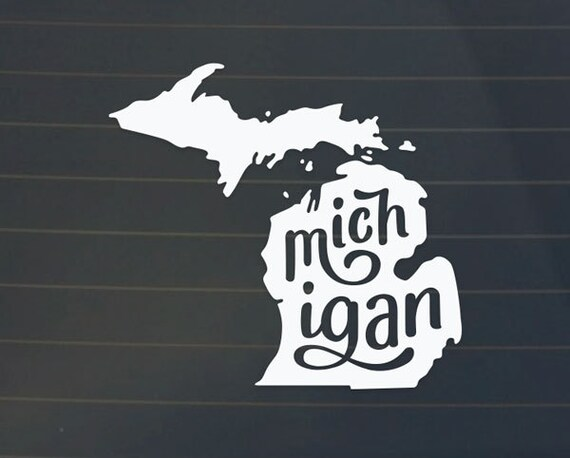 michigan car decal michigan decal michigan sticker. Black Bedroom Furniture Sets. Home Design Ideas