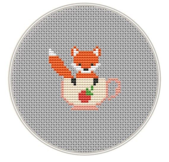 Fox Cross Stitch Pattern Mini Cross Stitch Pattern