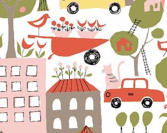 Urban Garden in Petal, Urban Patch Collection by Monaluna Organic Fabrics 3045