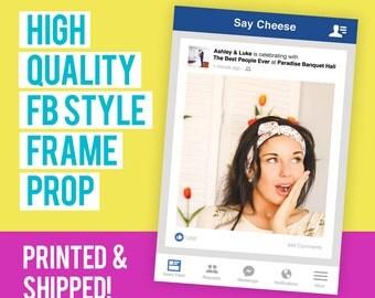 FB Style Frame Cutout Prop, Social Media Cutout, Social Media Prop, Photo Booth Prop, FB Frame, Social Media Board, Social Media Sign