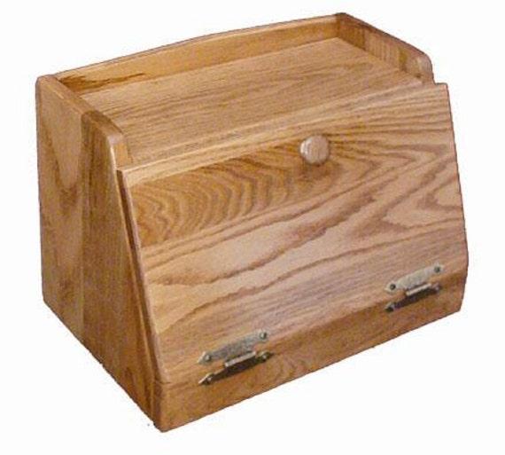 Solid Wood Bread Box Oak