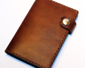 Leather Passport Cover! Brown Leather Passport Holder! Leather Travel Passport Cover!  Brown Handmade Passport Cover! SALE